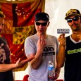Last weekend Listen Up Denver! got the chance to sit down with Jake Cinninger, Kris Myers and Ryan Stasik of Umphrey's McGee at sloppy mudfest that was Wakarusa.  The band is celebrating their 15th year together and is thrilled to be taking the stage at Red Rocks again this summer.  As the mainstage thundered away in the background, we talked about their favorite memories on The Rocks, their pre-show rituals and how much practicing it takes to maintain their incredibly tight performances.