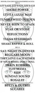 CRB Setlist 5-17