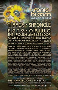 Sonic Bloom 2014 Line-Up Poster