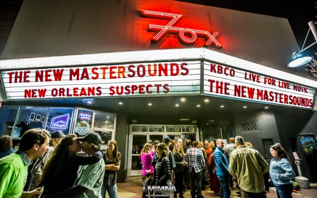 The New Mastersounds kicked off their Colorado run of shows last Wednesday at the legendary Fox Theatre as it celebrates its 25th anniversary with special shows all month.  Supporting them was NOLA's favorite party band, The New Orleans Suspects, who got the room warmed up and ready to rage.