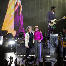Beck, Cage the Elephant and Spoon delivered a psychedelic and pyrotechnic marathon of rock music at Fiddler's Green Amphitheatre on Tuesday night's stop of the bands' Night Running Tour.